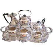 "SALE ""Kentshire"" 6 Pc. Tea Set Plus Birmingham Waiter Tray"
