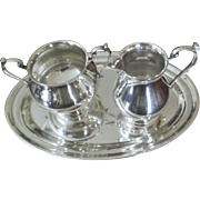 SALE 3 Piece Sterling Sugar, Creamer and Tray