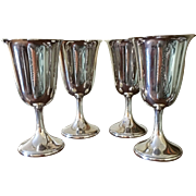Set Of 4 Sterling Goblets By Watrous