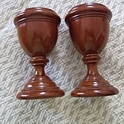 SALE Pr. Of  English Treen Goblets C:1860