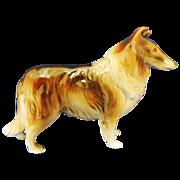 Vintage Collie Dog Ceramic Figurine
