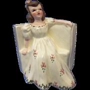 """Vintage Florence Ceramics Figurine Flower Holder """"May"""""""