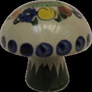 Talavera Folk Art Mexican Pottery Salt Shaker Mushroom