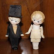 SOLD Kewpie Bride and Groom Wedding Cake Toppers
