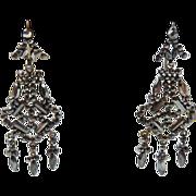 Antique Victorian Cut Steel Earrings