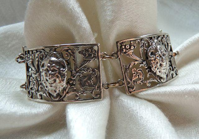 Italian Fratelli Coppini 800 Silver Bacchus Bracelet