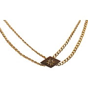 Victorian Gold Filled Watch Chain with Slide