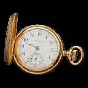 Antique Waltham 14k Solid Gold Hunter Case Pocket Watch