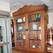 One Piece Stepback Cupboard - Victorian Style