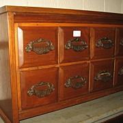8 Drawer Walnut Cabinet