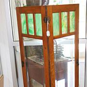 Pair of 1/4 Sawn Oak Cabinet Doors