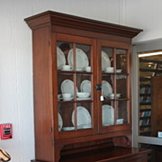 Early 12-Paned 2-Piece Cupboard