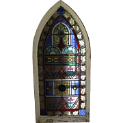 Pair of Matching Stained Glass Windows - 1840's