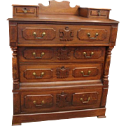 1800's Walnut and Burl Dresser