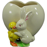 Easter Planter/Vase Made in Japan Bunny and Chick