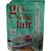 New York World's Fair Coca Cola Pavilion Poster 1964 1965 Original