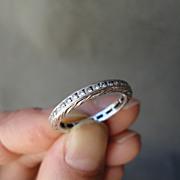 Art Deco Platinum 0.47 Diamond Carats Eternity Wedding Band Ring Size 6