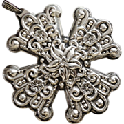 Reed and Barton 1974 Sterling Silver Cross Christmas Ornament Pendant