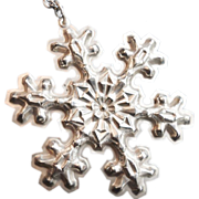 Gorham Sterling Silver Annual Christmas Snow flake Limited Edition 1976