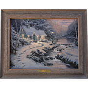 Evening Glow Christmas Cottage X G/P Canvas Thomas Kinkade 477/1100 Gallery Proof with ...