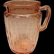 Anchor Hocking Glass, Pillar Optic, Pitcher, 1937-1942