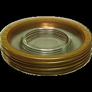 Tiffin Glass, Rambling Rose, Bread / Dessert Plates, 6