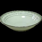 """Noritake China, Japan, #6243 Margaret Pattern, 10"""" Round Serving Bowl, 1961-1973"""