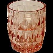 """Pink Depression, Windsor, """"Windsor Diamond"""", Jeannette Glass, 5 Oz. Juice Tumbler"""