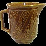 """Vintage USA Stoneware 16 oz. Milk or Cream Pitcher, 5 1/8"""", excellent"""