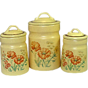 Treasure Craft USA, Wildflower, Canisters, Small, Medium, X-large