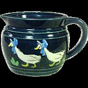 Goose in Blue Bonnet Milk Pitcher, Japan, Mid-century, Cute as it Gets