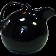 Hall Pottery USA, Ice Lip Ball Pitcher, Black, Mid-Century