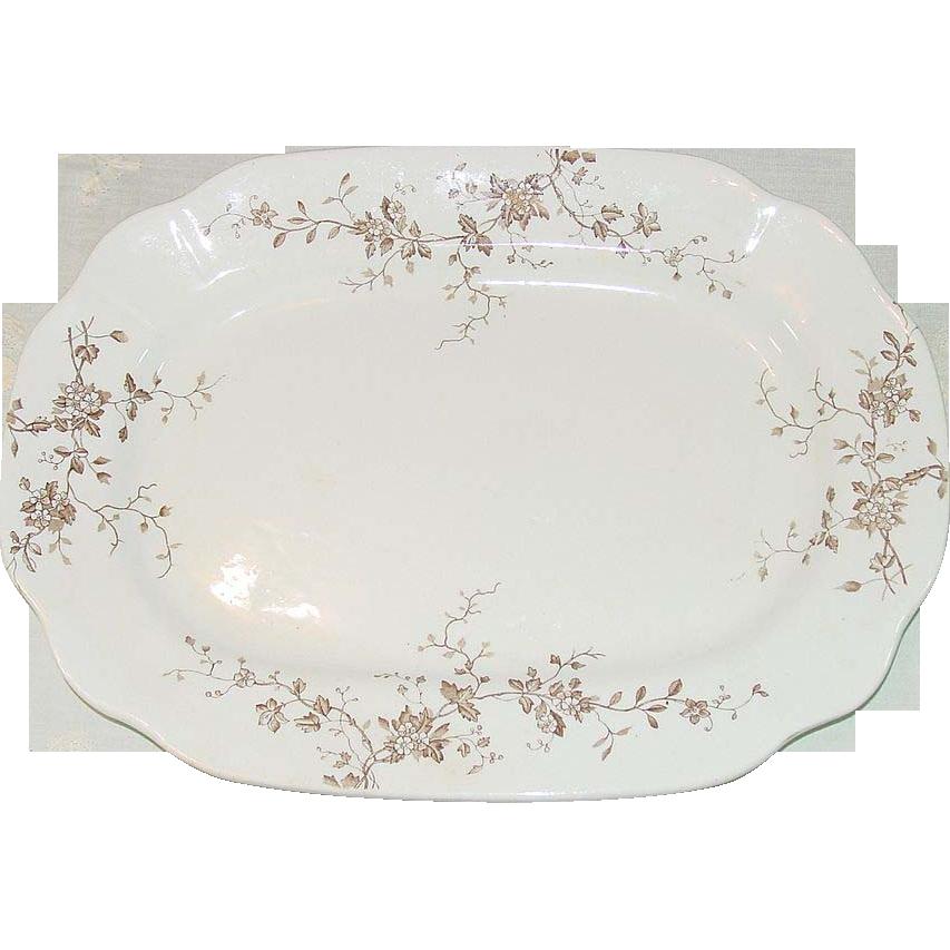 Antique Platter ~ New Wharf Pottery, England ~ Circa 1890