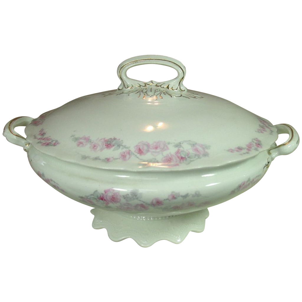 Warwick China ~ Round, Handled, Footed, Covered Serving Bowl