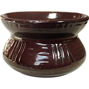 Robinson-Ransbottom Cuspidor ~ Brown Glaze ~ Perfect Condition