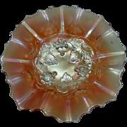 "Dugan Glass Company ~ Marigold Carnival Bowl ~ Golden Grapes ~ 7 1/2"""