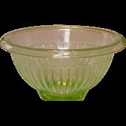 "Paneled Green Depression Mixing Bowl ~ 7 1/2"" ~ Anchor Hocking"