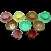 Hazel Atlas ~ Ovide Moderntone ~ Cups, Saucers, Bowls, Creamer and Sugar