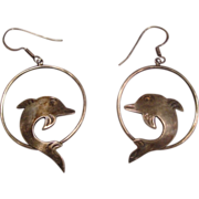 REDUCED Taxco Mexico ~ Sterling Dolphin Earrings