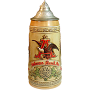 "Anheuser-Busch Stein ~ Limited Edition ""E"" Series - 1986"
