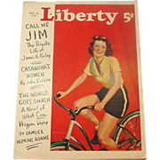 Liberty Magazine ~ September18, 1937 ~ Short Stories,Quaint Ads, Great Illustrations