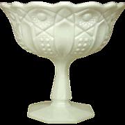 """L. E. Smith Glass ~ Milk Glass ~ Compote on Column ~ 7"""""""