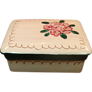 Stangl Pottery ~ Trinket / Cigarette Box ~ Terra Rose ~ Mountain Laurel