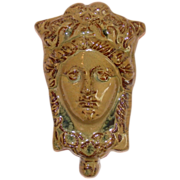 19th Century Goddess Head Wall Vase ~ Large ~ Magnificent!