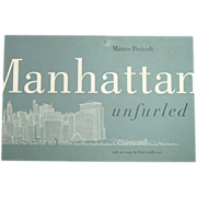 SOLD Manhattan Unfurled by Matteo Pericoli ~ 44' Continuous Drawing ~ 1st Edition - Red Tag Sa