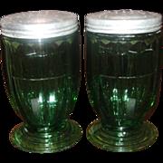 SOLD Jeannette Glass ~ Jennyware ~ Ultramarine ~ Shakers