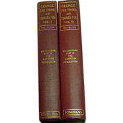 George the Third and Charles Fox, by Trevelyan, 1920 Ed., 2 Vols.