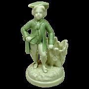 Circa 1862 Royal Worcester Porcelain Figural Toothpick Holder