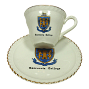 Cazenovia College, 4 Sets of Demitasse Cups & Saucers