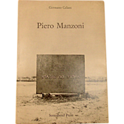 The Artist Piero Manzone by Germano Celant, 1972, First